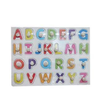 จิ้กซอว์ เอบีซี แผ่นกระดาษไม้ ตัวต่อ บล้อคต่อตัวอักษรของเล่นเสริมพัฒนาการ ของเล่นไม้ ของเล่นเด็ก