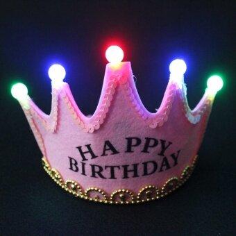 มงกุฎเปล่งแสงวันเกิดของเด็กวันเกิดงานปาร์ตี้หมวก