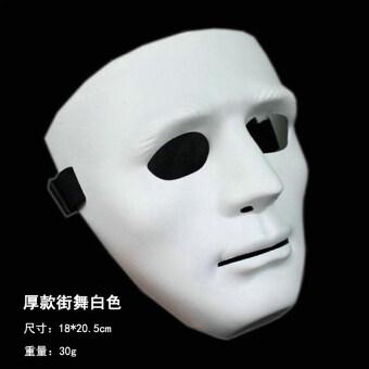 นักเต้นสีขาวฮาโลวีนการแสดงฮิปฮอปหน้ากากหน้ากาก
