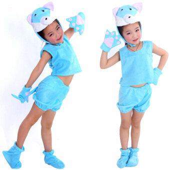 แมวสีฟ้าใหม่เครื่องแต่งกายสำหรับเด็ก