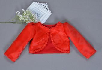บนใหม่ฤดูใบไม้ร่วงทารกประดับด้วยลูกปัดผ้าคลุมไหล่เวตเตอร์ถักเสื้อสั้น