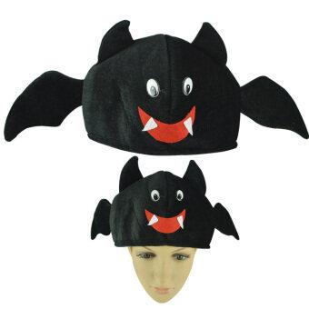 น่ารักสีดำฮาโลวีนฟักทองหมวกผ้าโพกศีรษะ
