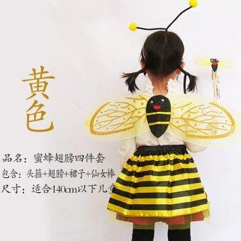 ผึ้งเด็กเทศกาลผีเสื้อครัสเตเชียเต่าทองเต้นรำกระโปรง