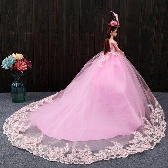 หิมะขาวจำลองงานแต่งงานเด็กตุ๊กตาสาวของขวัญขนาดใหญ่