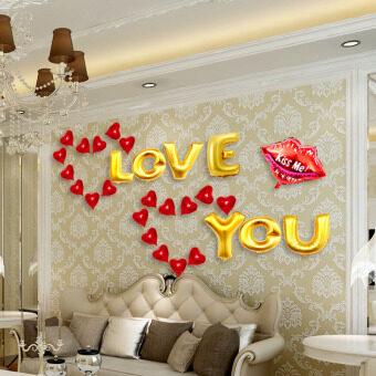 ห้องพักที่สะดวกสบายแต่งงานแต่งงานลูกโป่งตกแต่งอุปกรณ์จัดงานแต่งงานที่โรแมนติก