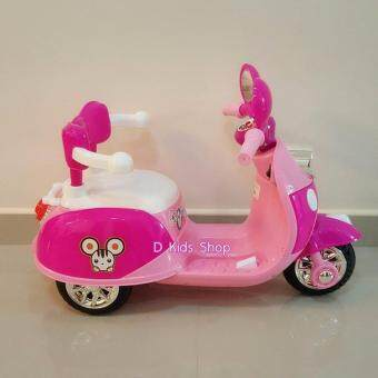 รถมอเตอไซส์ รถแบตเตอรี่ รถมิกกี้เม้าส์สีชมพู รถเด็กไฟฟ้า