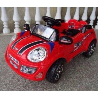 รถแบตเตอรี่ รถเด็กนั่ง มินิจัสติน สีแดง รถเด็กไฟฟ้า ขับเองได้ บังคับรีโมทได้