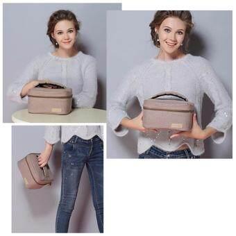 กระเป๋าเก็บอุณหภูมิ กระเป๋าเก็บความเย็น กระเป๋าเก็บความร้อน กระเป๋าเก็บนมแม่ แบบถือ (สีตาล)