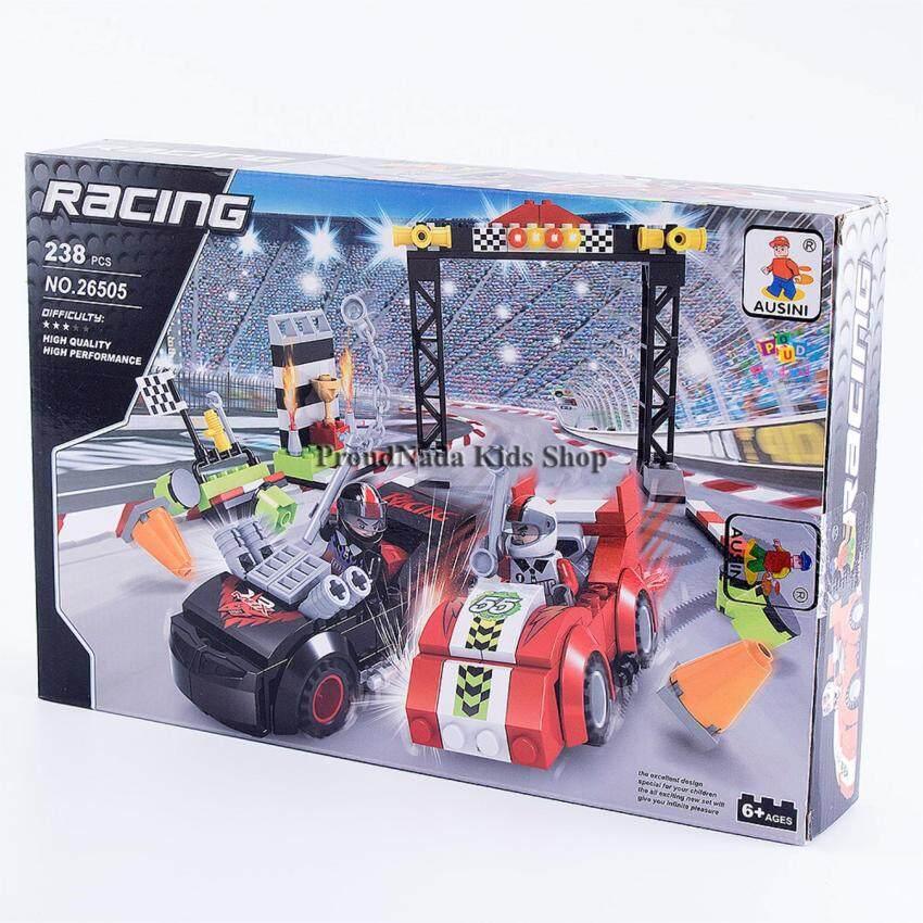 ProudNada Toys ของเล่นเด็กชุดตัวต่อเลโก้รถแข่ง AUSINI RACING 238 PCS NO.26505
