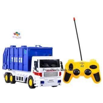 ProudNada Toys ของเล่นเด็กรถบรรทุกเก็บขยะ(สีน้ำเงิน)บังคับวิทยุ SUPER TRUCK CONSTRUCTION NO.9885