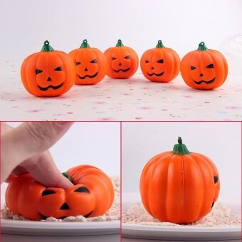 PU Halloween Pumpkin Squishy Toy Slow Rising Squeeze Relieve GiftAnti Stress - intl