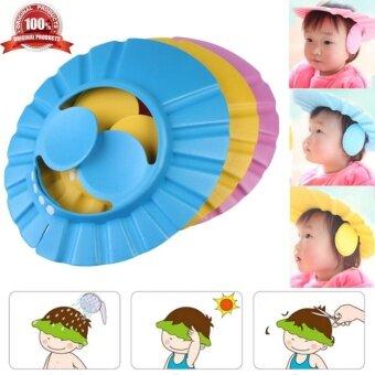 PVC Adjustable Soft Baby Shampoo Shower Protect Soft Cap Baby CareBath Protection Kid ca ...