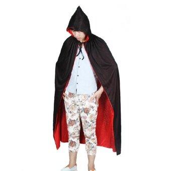 Qiaoshiting สีดำและสีแดงที่มีเสื้อคลุมเสื้อคลุม