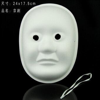 Qiaoshiting เยื่อกระดาษสีเขียวมือวาดกราฟฟิตีหน้ากาก