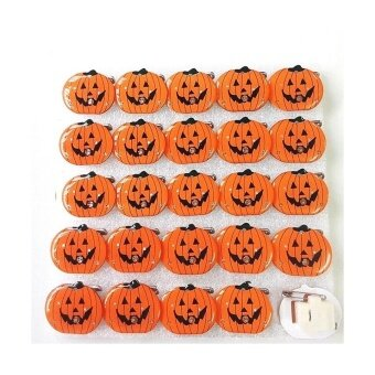 QIMIAO STORE Halloween LED Flash Light Brooch Pin Badge ToysChildren's Party Carnival Decoration Pumpkin - intl