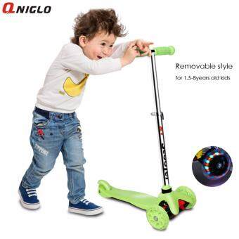 Qniglo Flash Wheel Children 2-8 Years Outdoor Toys Baby TricycleWheels Kid balance scoot ...