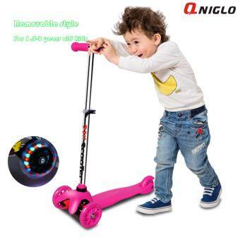 Qniglo hot sale adjustable wholesale 3 wheel kids scooter balancescooter with flash whee ...