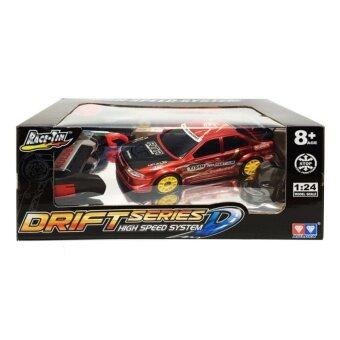 รถบังคับ รถบังคับดริฟ RC Drift Series D High Speed System Race Tin Drift RC Car รถแข่ง ดริฟท์ บังคับวิทยุตราเพชร 1 ต่อ 24 (สีแดง)