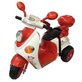 Rctoystory รถเด็กนั่ง รถแบตเตอรี่ มอเตอร์ไซค์ เด็ก (สีแดง)