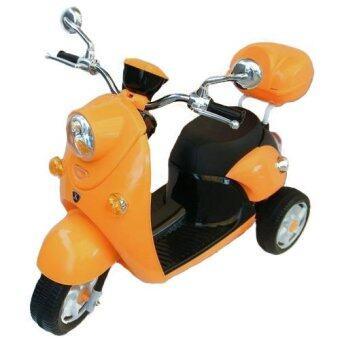 Rctoystory รถแบตเตอรี่ รถเด็กนั่ง มอไซค์ สกู๊ปปี้ (สีส้ม)