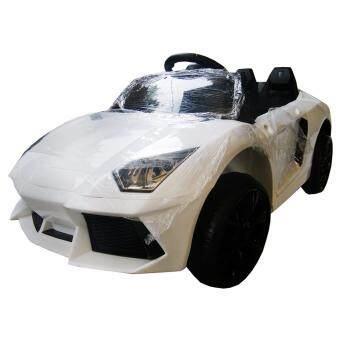 Rctoystory รถเด็กนั่ง รถแบตเตอรี่ เฟอร์รารี่ 2 แบต 2 มอเตอร์ (สีขาว)
