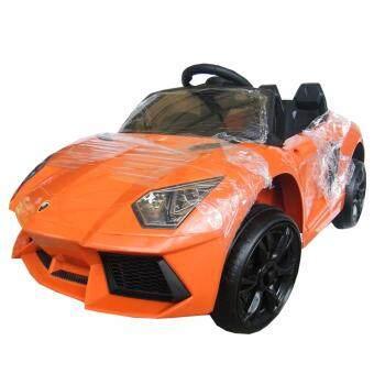 Rctoystory รถเด็กนั่ง รถแบตเตอรี่ เฟอร์รารี่ 2 แบต 2 มอเตอร์ (สีส้ม)