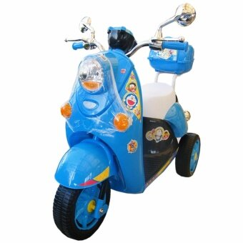 Rctoystory รถเด็กนั่ง รถแบตเตอรี่ รถแบตมอไซค์ โดเรม่อน (สีฟ้า)