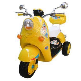 Rctoystory รถเด็กนั่ง รถแบตเตอรี่ รถแบตมอไซค์ โดเรมี่ (สีเหลือง)
