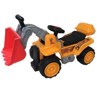 Rctoystory รถเด็กนั่ง รถแบตเตอรี่ รถไฟฟ้า ขาไถ รถเกรด (สีเหลือง)