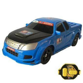 Rctoystory รถบังคับ รีโมทย์ รถเก๋ง AULDEY กระป๋อง 2.4(สีน้ำเงิน)