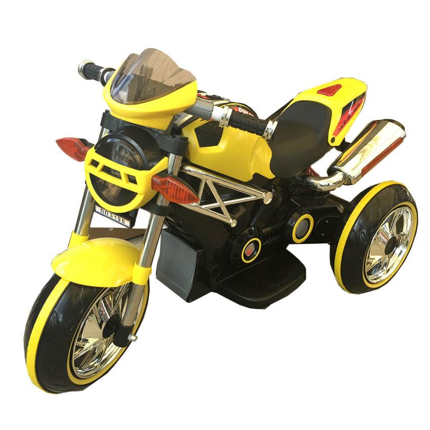 Rctoystory รถเด็กนั่ง มอเตอร์ไซค์เด็ก Ducati 2 มอเตอร์ (สีเหลือง)