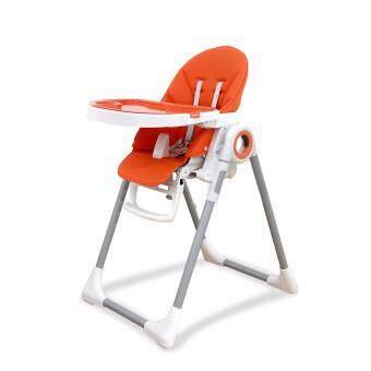 Rocking Kids เก้าอี้ทานข้าวเด็ก พร้อมปรับเอนนอนได้ อเนกประสงค์ รุ่น Primo High Chair สีส้ม