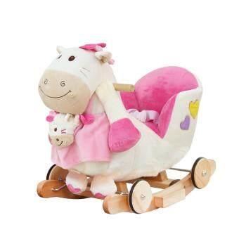 Rockingkids ม้าโยก 3 in 1 รุ่น Little Pony (สีชมพู)ฟรี ตุ๊กตามือ Little pony baby +ผ้าอ้อมรองนั่งถอดซักได้ +สายจูงสีแดง +ถ่านไฟฉายขนาด 2 A 2 ก้อน