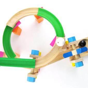 ของเล่นไม้ Roller Coaster Track Block