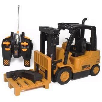 รถบังคับวิทยุ รถแข่งของเล่น รถบังคับวิทยุ รถก่อสร้าง รถยก รถโฟล์คลิฟท์ 6833L(Yellow)