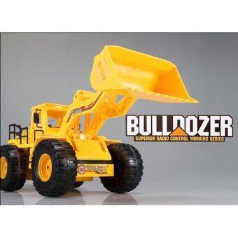 รถบังคับวิทยุ รถบังคับไฟฟ้า รถแทรกเตอร์บังคับวิทยุ Bulldozer 8895 - สีเหลือง