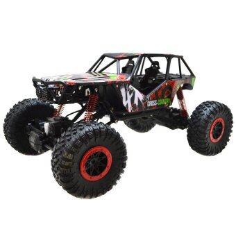 รถบังคับวิทยุ รถบังคับไฟฟ้า รถไต่หิน HB - P1001 Rock Crawler 4WD 2.4ghz - (สีแดง)