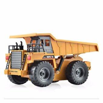 รถบังคับวิทยุ รถบังคับไฟฟ้า รถดั้มบังคับวิทยุ 6 CH Dump Truck (สีเหลือง)