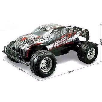 รถบิ๊กฟุตบังคับวิทยุMonster Truck 1:8 R/C 4WD Off-road series (Master X Turbo) ขนาดใหญ่ สเกล 1:8 สีดำ