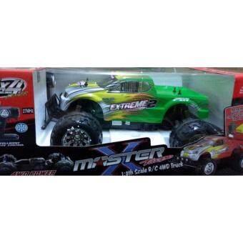 รถบิ๊กฟุตบังคับวิทยุMonster Truck 1:8 R/C 4WD Off-road series (Master X Turbo) ขนาดใหญ่ สเกล 1:8 สีเขียว