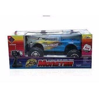รถบิ๊กฟุตบังคับวิทยุMonster Truck 1:8 R/C 4WD Off-road series (Master X Turbo) ขนาดใหญ่ สเกล 1:8 สีฟ้า