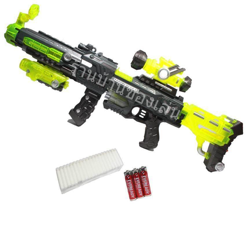 ขาย RWR TOY ปืนเนิร์ฟ Nerf ปืนยิงกระสุนโฟมเรืองแสง แรงสูง พร้อมถ่าน FJ559