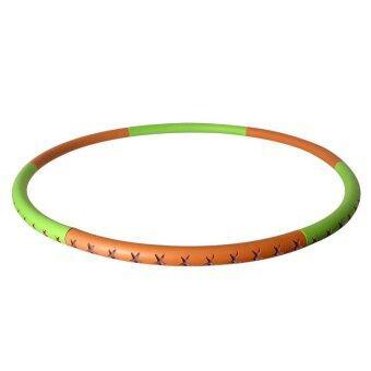 SAFSOF ห่วงฮูล่าฮูปหุ้มยาง ถอดประกอบได้ รุ่น AHL-24(B)-Z (สีเขียว/ส้ม)