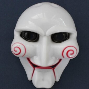 Saw Puppet Halloween Mask Head Creepy Scary Costumes Prop Cosplay Fun - intl