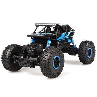 รถบิ๊กฟุต Scale 1:18 Rock Crawler 4WD 2.4ghz (Blue)