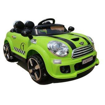 SCMShop รถเด็กไฟฟ้า รถแบตเตอรี่ไฟฟ้า รถบังคับ LN5616-2M.Gรุ่น มินิคูเปอร์ 2มอเตอร์ รุ่นเปิดประตู(สีเขียว)