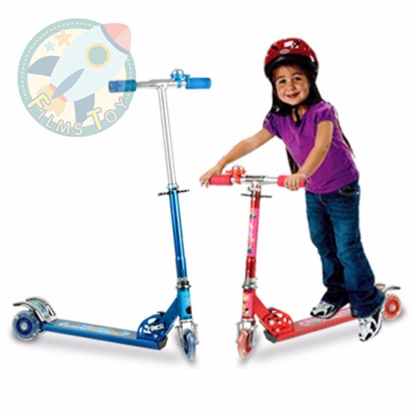 Scooter สกู๊ตเตอร์ 3ล้อ สำหรับเด็ก คละสี ปรับความสูงได้3ระดับ สูงสุด73xยาว60xกว้าง10cm. ล้อ10cm.