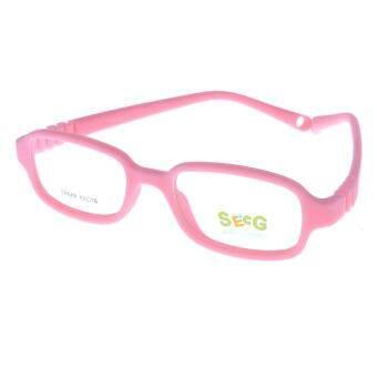 SECG แว่นตาเด็ก สำหรับเด็ก 3 - 5 ขวบ รุ่น TR688-13 เต็มกรอบสีชมพู - ขาสีชมพู