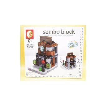 ชุดตัวต่อเลโก้ Sembo block ในชุดร้านกาแฟ [65 PCS}
