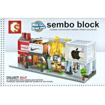 ตัวต่อ SEMBO BLOCK LEGO เลโก้ ร้านค้า อาหาร น้ำอัดลม โค้ก โคคาโคล่า COKE Coca Cola - 2